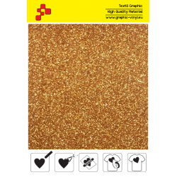 IDP429A Perleťová tmavo zlatá (Arch) nažehľovací fólia / iDigit