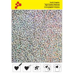 IDL796A Strieborná Glam (Arch) nažehľovací fólia / iDigit