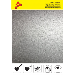IDG796A Strieborná Glitter (Arch) nažehľovací fólia / iDigit