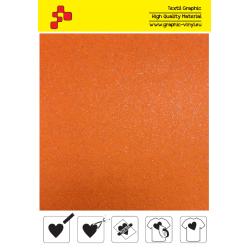IDG734 Neónovo oranžová Glitter (Arch) nažehľovací fólia / iDigit