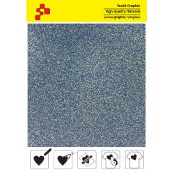 IDP436A Glitterová modrá (Arch) nažehľovací fólia / iDigit