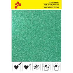 IDP437A Glitterová zelená (Arch) nažehľovací fólia / iDigit