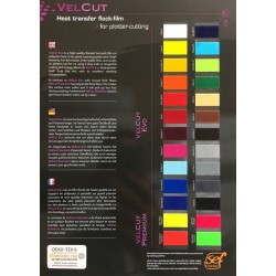 S000 Vzorkovník A4 Flock VelCut Evo Premium / SEF Textile