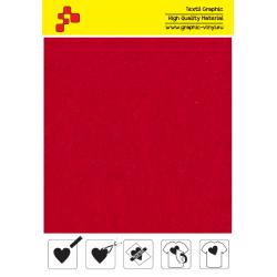 IDVCE04A Elektrizujúca červená (Arch) semišová nažehlovací fólie / iDigit