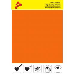 IDVCPNOA Neónová oranžová (Arch) semišová nažehlovací fólie / iDigit