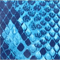 Fantasy Flex Blue snake 04 nažehľovací fólia / SEF Textile