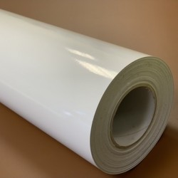 K150CLINGW/500 Elektrostatická biela lesklá tlačová fólia / Kemica