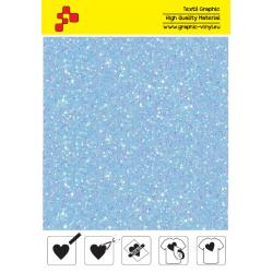 IDDFLUO46A Perleťová neónovo modrá (Arch) nažehľovací fólia / iDigit