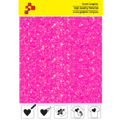 IDDFLUO40A Perleťová neónovo ružová (Arch) nažehľovací fólia / iDigit