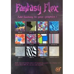 FF000 Vzorkovník A4 Fantasy flex fólií / SEF Textile
