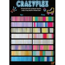 CF000 Vzorkovník A4 Crazy Flex fólií / SEF Textile