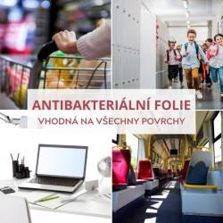 350 Antibacterial číra antibakteriálna samolepiací fólia / iDigit
